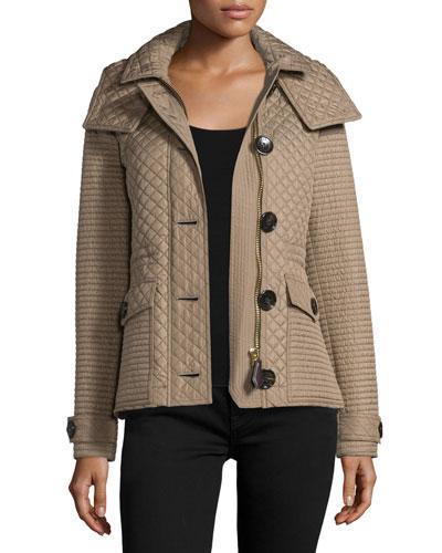 Nealsbrooke Multi-Quilt Hooded Jacket, Mid Taupe