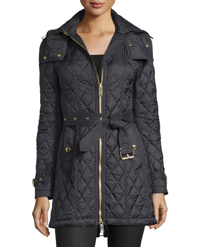 Bellbridge Long Quilted Jacket, Black