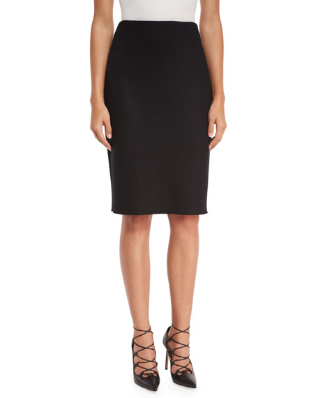 THE ROW Larem High-Waist Pencil Skirt, Black