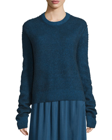 THE ROWRienda Extended-Sleeve Distressed Sweater, Dark Sapphire