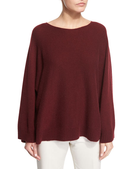 THE ROW Minola Cashmere Trapeze Sweater, New Brick