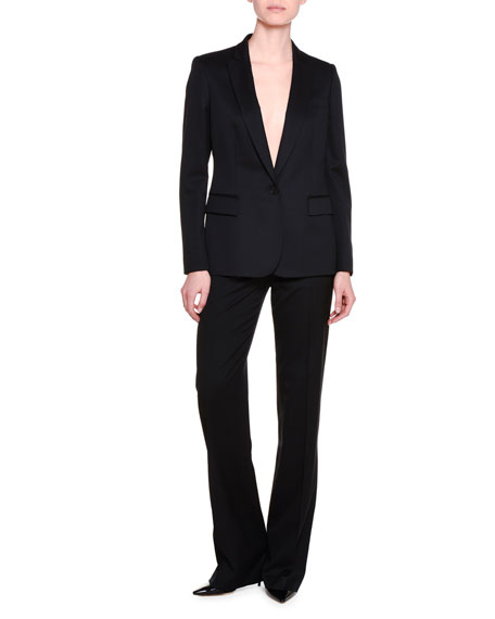 Classic Tailored Suit Pants, Black