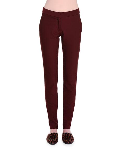 Stella McCartney Ivy Flat-Front Leggings, Berry