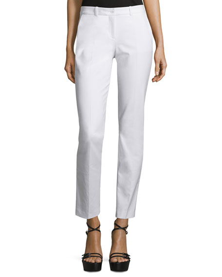 Michael Kors Collection Samantha Skinny Ankle Pants, Optic