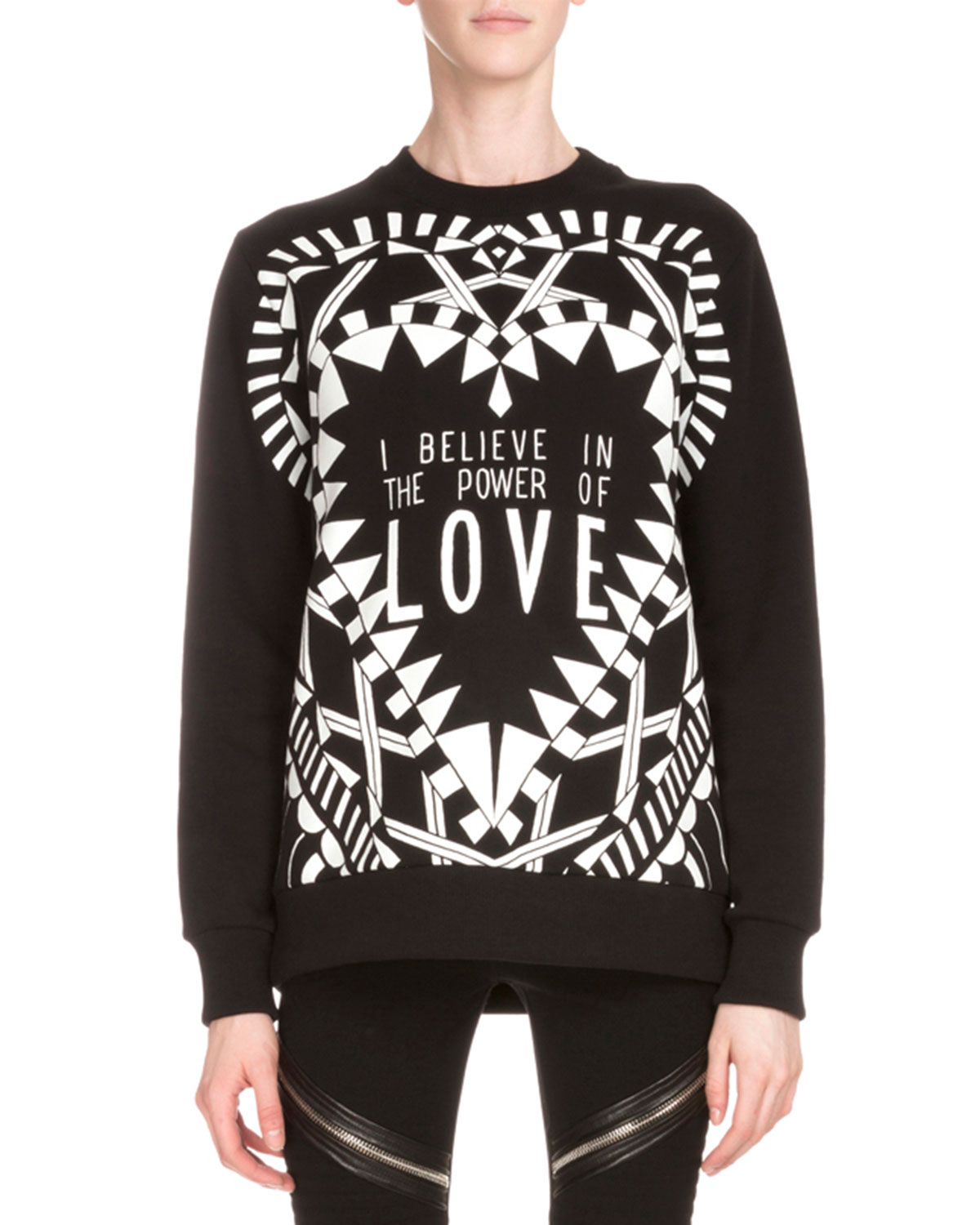 96a74514a5bc Givenchy Power of Love Long-Sleeve Graphic Sweatshirt, Black ...