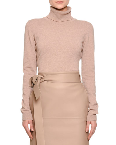 Cashmere Turtleneck Sweater, Mink