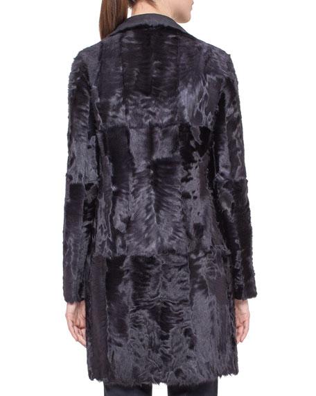 Reversible Shearling Fur Coat, Starling