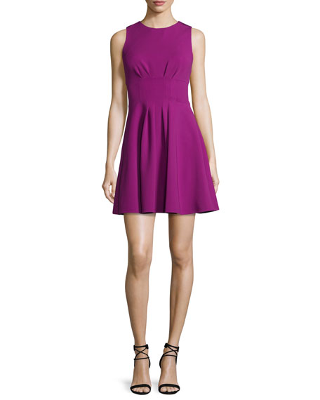 Cushnie Et Ochs Sleeveless Fit-&-Flare Power Dress, Orchid