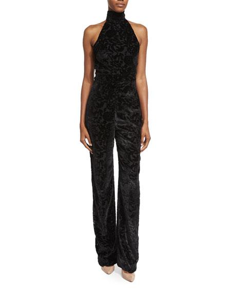 Cushnie Et Ochs Halter-Neck Straight-Leg Jumpsuit, Black