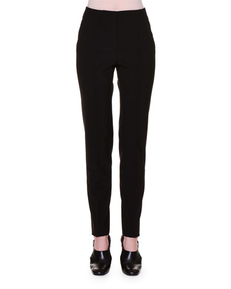 Mid-Rise Skinny Pants, Black