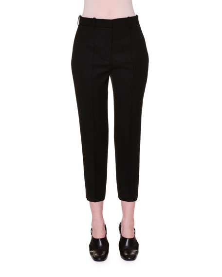 Buy Cheap Big Discount slim-fit cropped trousers - Black Jil Sander Cheap Sale Best Store To Get Clearance Footlocker Pictures Cheap Cost Outlet Websites 9PqUOORmO