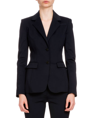 Fenice Two-Button Blazer, Navy