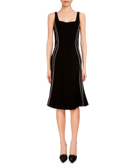 Altuzarra Sophia Sleeveless Flounce-Hem Dress, Black