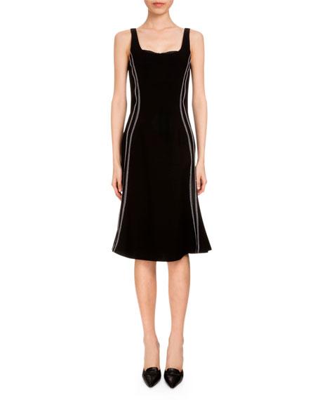 Altuzarra Sophia Sleeveless Flounce-Hem Dress, Black