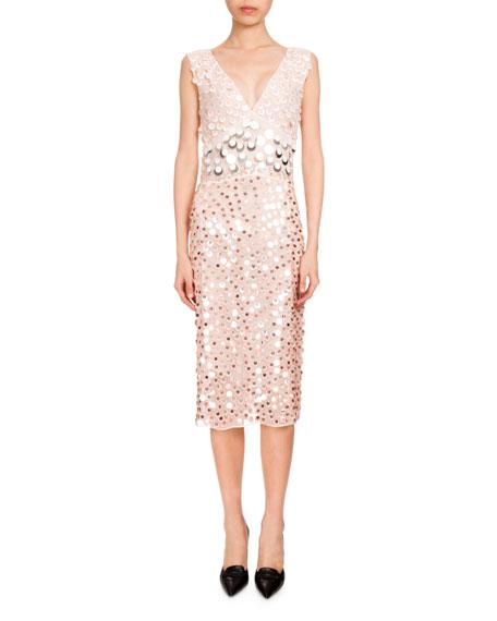 Altuzarra Genevieve Sequin-Embellished Cocktail Dress, Blush