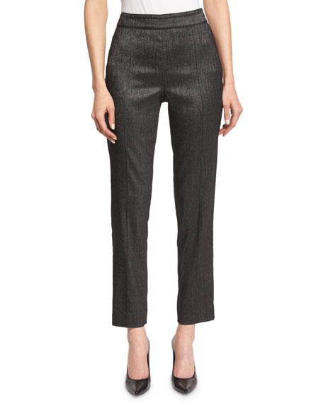 St. John Collection Emma Shimmery Melange Cropped Pants,