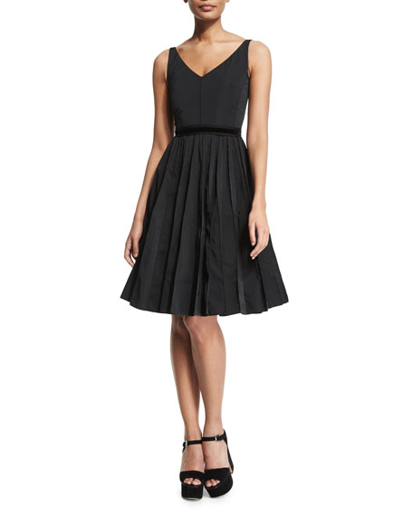 Marc Jacobs Sleeveless Fit-&-Flare Dress, Black