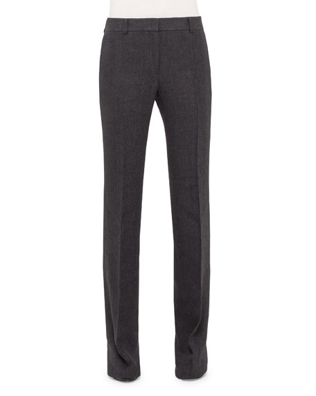 Akris Farrah Boot-Cut Pants, Dark Gray