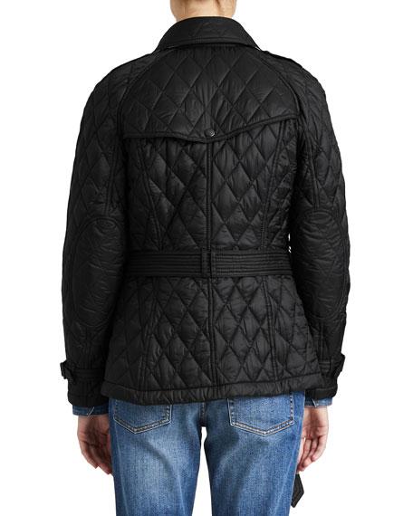 Burberry Finsbridge Hooded Quilted Short Jacket Black