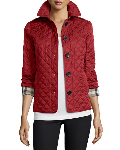 Ashurst Classic Modern Quilted Jacket, Parade Red