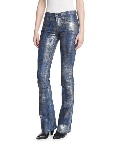 Ralph Lauren Collection 867 Coated Boot-Cut Jeans, Mercury
