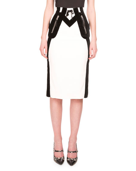 Altuzarra Wiley Drawstring-Waist Pencil Skirt, Natural White
