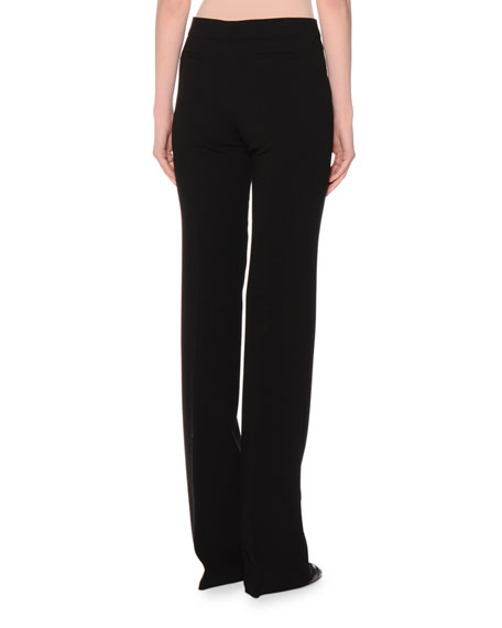 Iconic Mid-Rise Flare Pants, Black