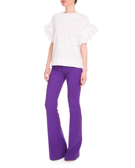 High-Waist Flare-Leg Pants, Iris