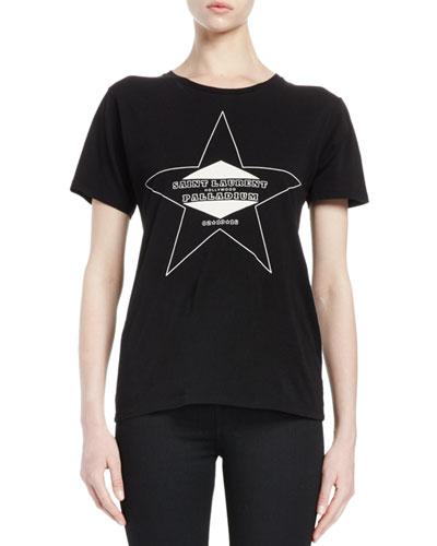 Paladium Graphic-Print T-Shirt, Black/Natural