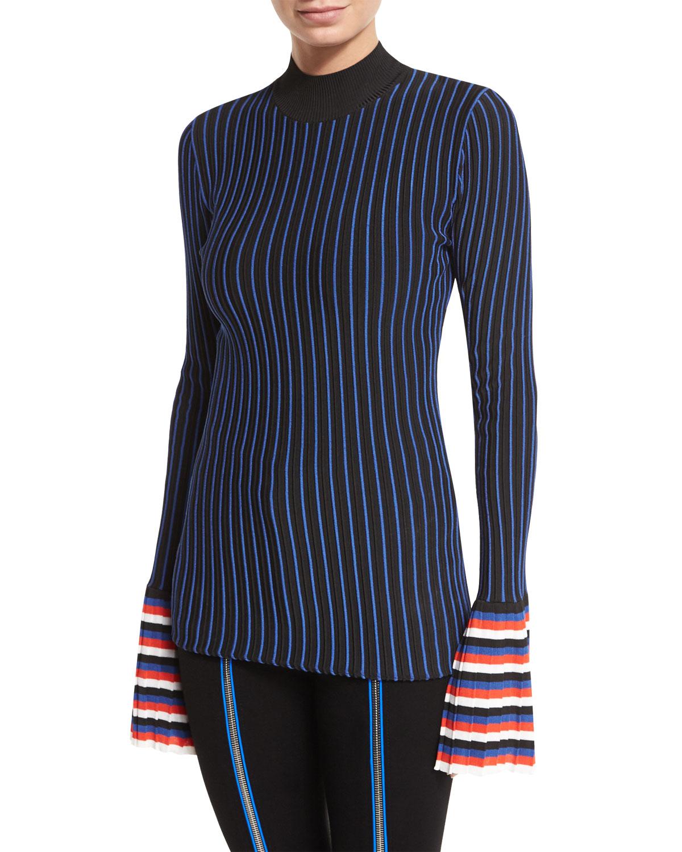 910e5762a8b0 Emilio Pucci Striped Crewneck Pullover Sweater