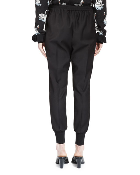 Creased Jodhpur Pants, Black