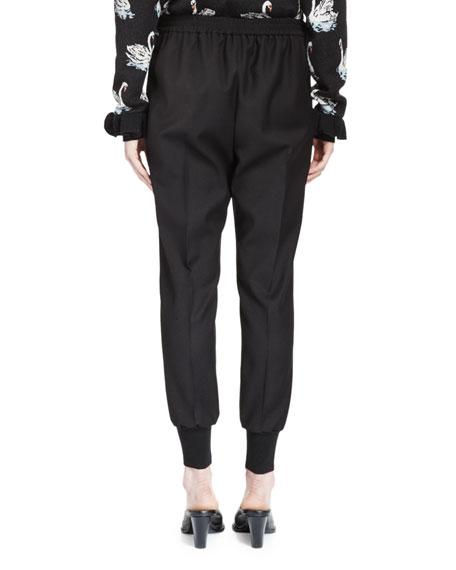 Creased Jodhpur Pants, Black