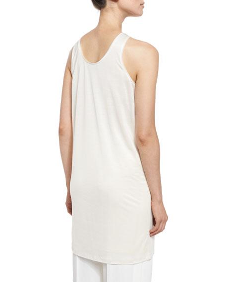 Oversized Scoop-Neck Tank/Tunic/Dress, Chalk Best Price