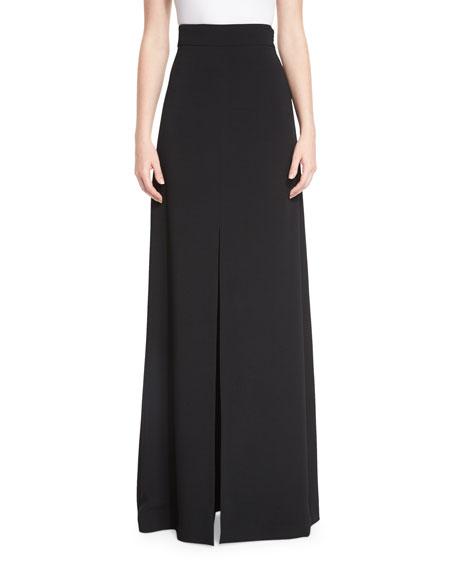 Cushnie Et Ochs High-Waist Front-Slit Maxi Skirt, Black