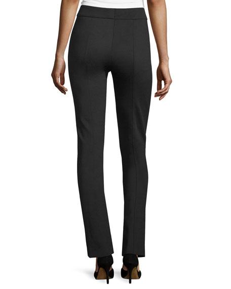 Tonisu Straight-Leg Pants, Black