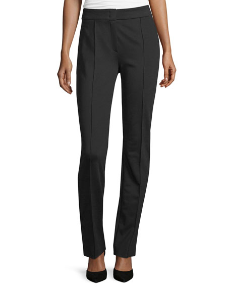 Escada Tonisu Straight-Leg Pants, Black