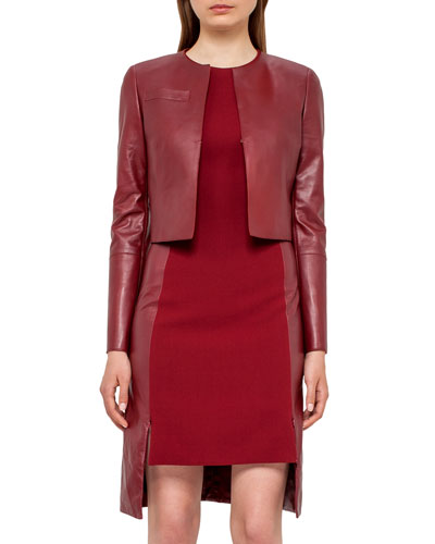 Leather Bolero Jacket, Miracle Berry