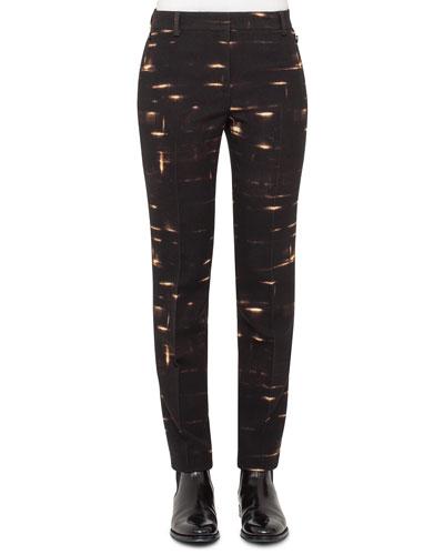 Gnu-Print Straight-Leg Pants, Date