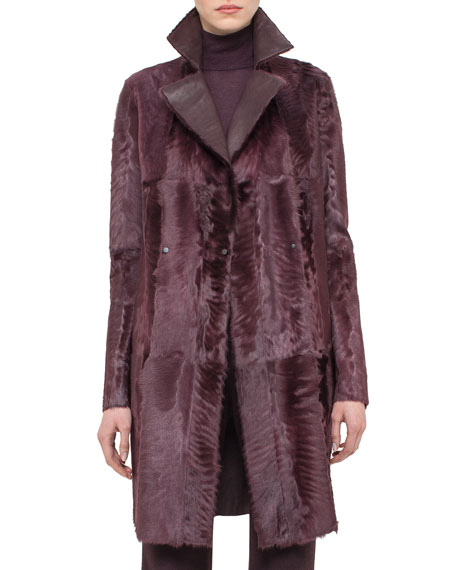 Akris Reversible Shearling Fur Coat, Camito