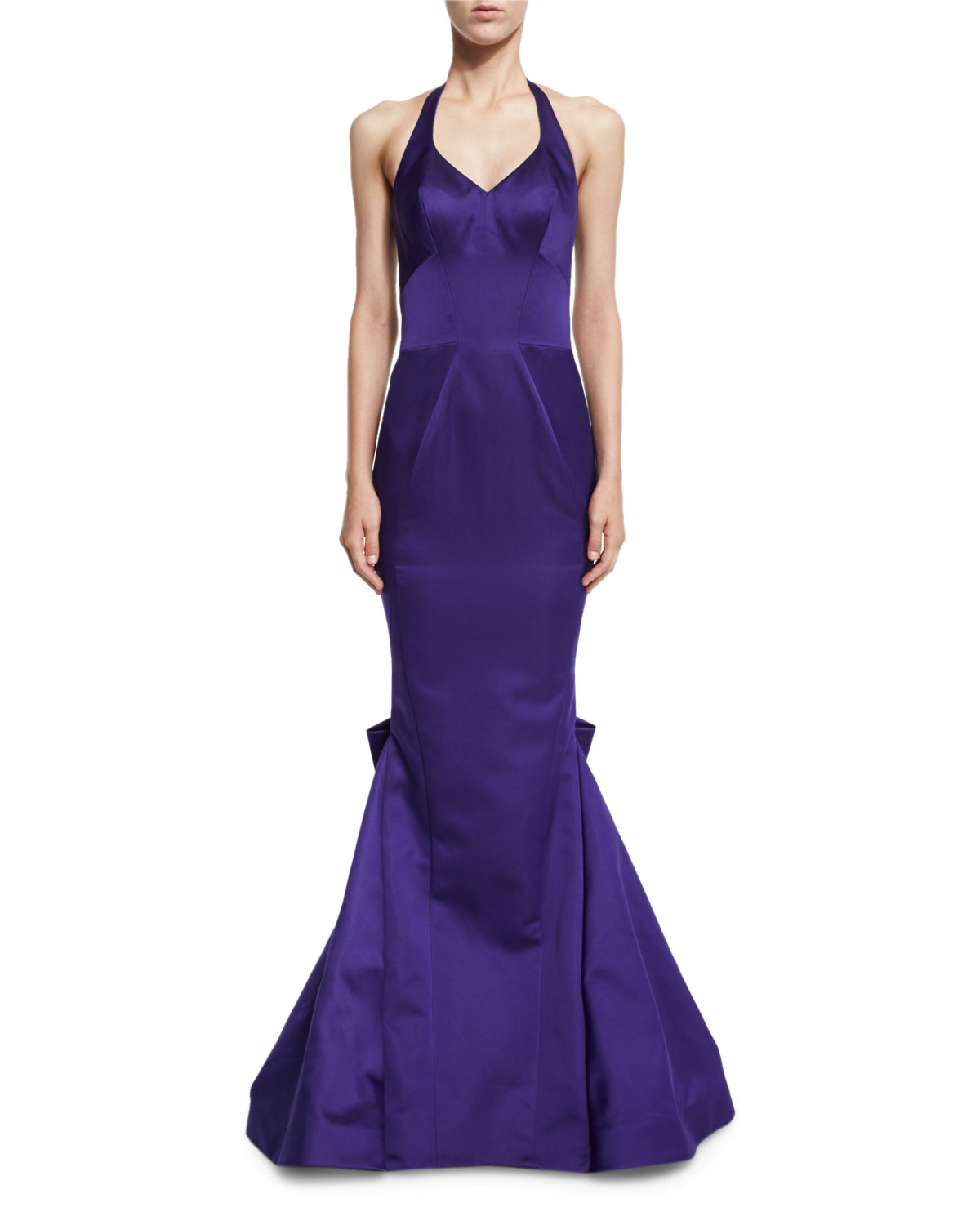 Deep Purple Halter Dress