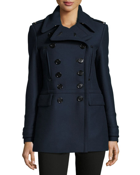 Milbridge Wool Twill Pea Coat