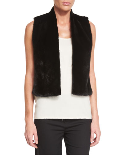 Drudin Mink-Fur Vest, Black Onsale