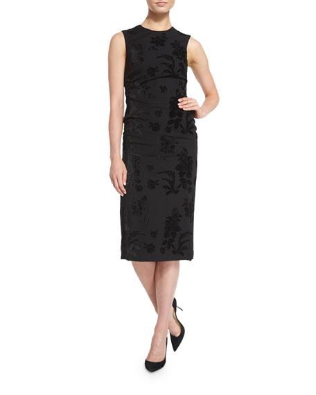 Ralph Lauren Collection Sleeveless Brocade Sheath Dress, Black