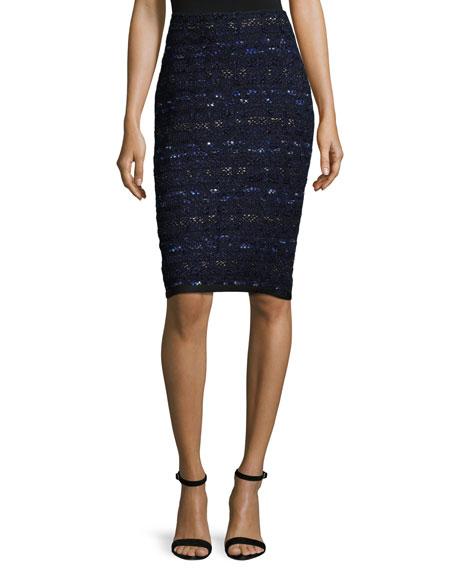 Evening Cruise-Stripe Skirt, Navy/Multi