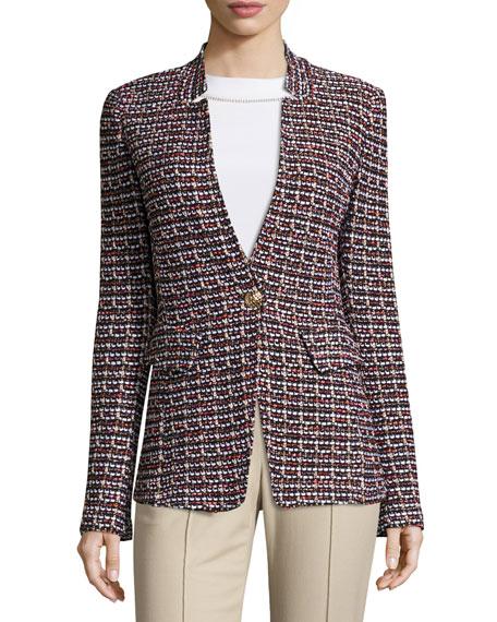 St. John Collection Curacao Tweed Notch-Collar Jacket,