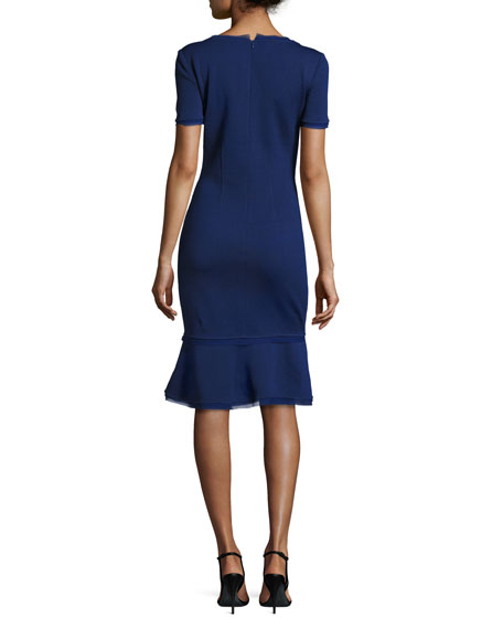 Milano Knit Scoop Neck Dress