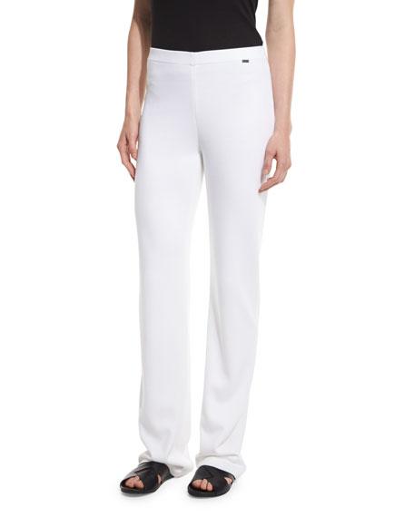 Soft Milano Knit Pants, Bianco
