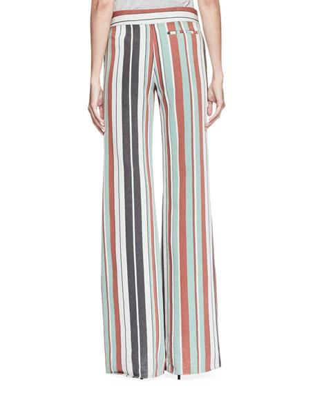 Striped Wide-Leg Trousers, Multi
