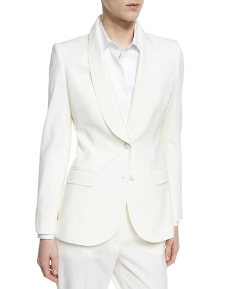 Dolce & Gabbana Shawl-Collar Stretch-Wool Two-Button Jacket,