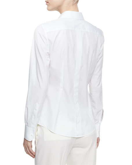 Classic Cotton Tuxedo Shirt, White